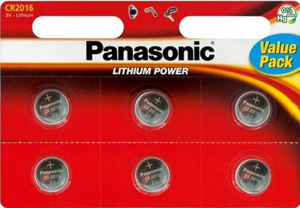 Panasonic Knopfzelle Lithium CR2016 6er Blister 3V CR-2016EL/6BP