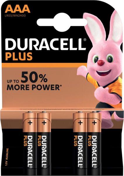 Duracell AAA LR03 1,5V Plus Power Alkaline Batterie 4er Blister Micro MN2400