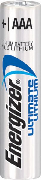 Energizer Ultimate Lithium AAA Micro L92 Batterie 1,5V 1260 mAh FR03 Li-FeS2 Bulk 634353