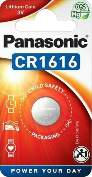 Panasonic Lithium 3V Zelle 1er Blister CR1616 Knopfzelle Lithium Coin CR-1616EL/1B