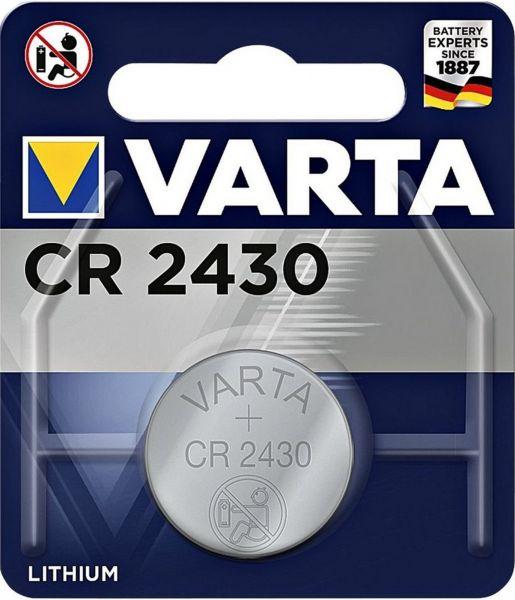 Varta CR2430 1er Blister 3V Batterie Lithium Knopfzelle 280 mAh 6430 VCR2430