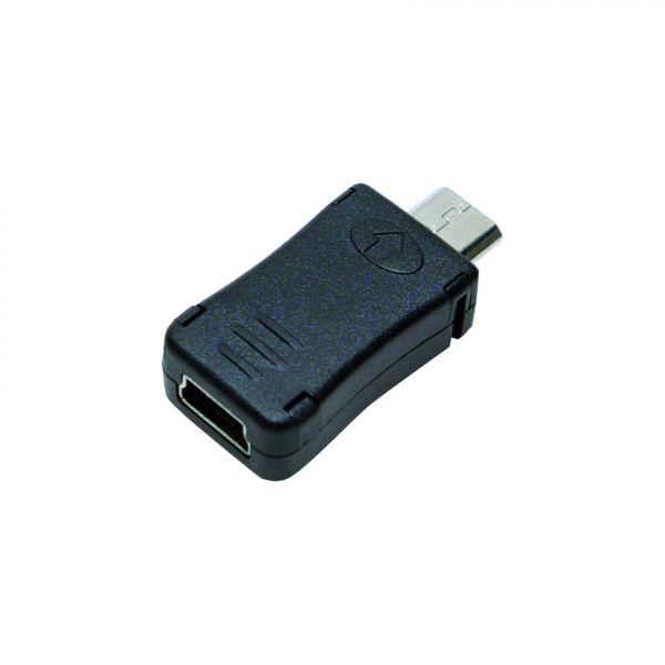 LogiLink USB Adapter, Micro B male to mini USB female