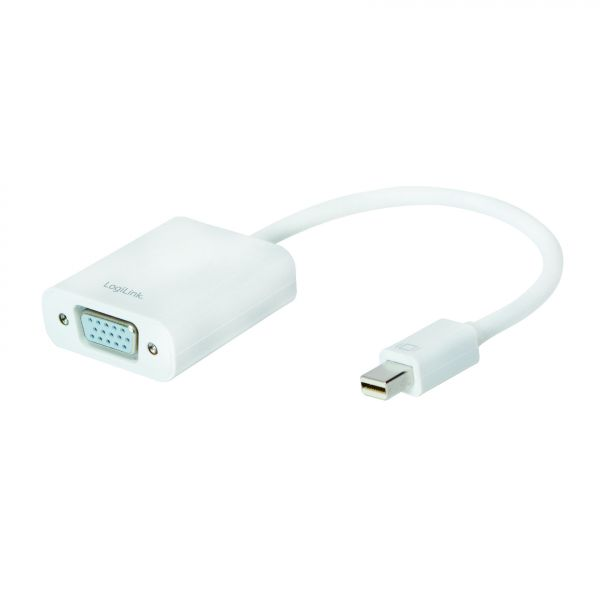 LogiLink Mini DisplayPort 1.2 to VGA Active Adapter with 15cm cable