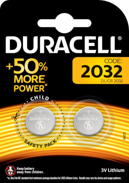Duracell Specialty 2032 Lithium 3V Knopfzelle 2er Blister CR2032 DL2032