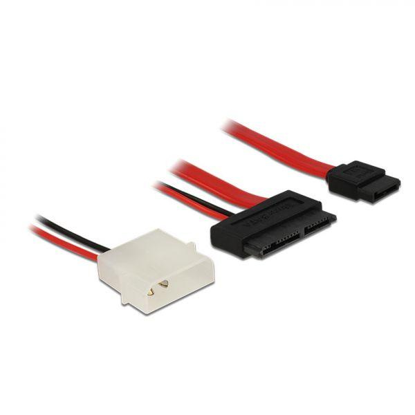 Delock Kabel Micro SATA Stecker + 2 Pin Power 5 V > SATA 7 Pin 60 cm