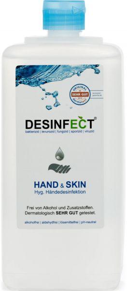 DESINFECT HAND & SKIN+ ökologische Händedesinfektion auf Wasserbasis 99,999 % Desinfektionsmittel, b