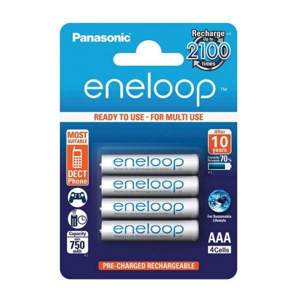 Panasonic Eneloop AAA Akku 4er Blister R03 BK-4MCCE/4BE