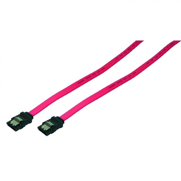 LogiLink S-ATA Cable, 2x male, red, 0,75m