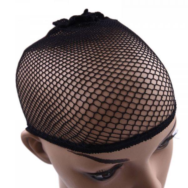 EWANTO Haarnetz Mesh Perückenkappe Unterziehhaube aus schwarzem Nylon mit offenem Ende HA-24