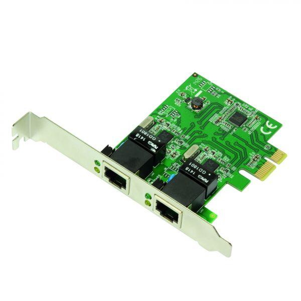 LogiLink PCI-Express Card, 2-port Gigabit Lan