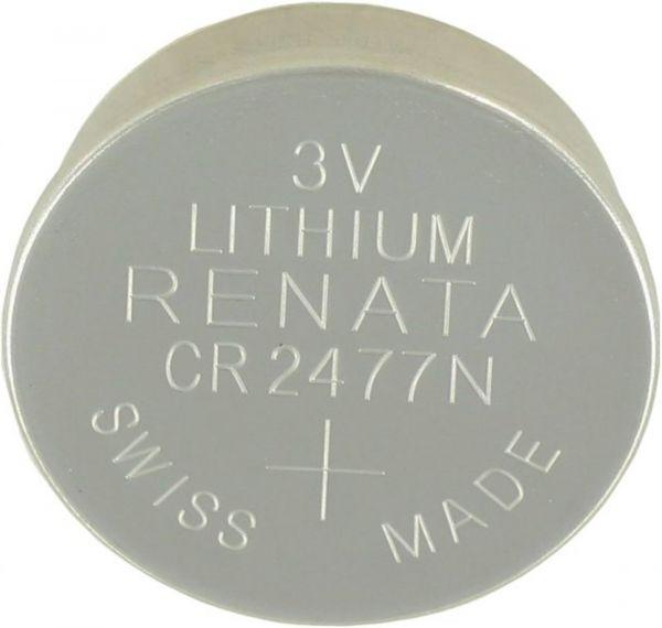 Renata CR2477 3V Lithium Batterie Knopfzelle 1er Blister 950 mAh bulk CR2477N