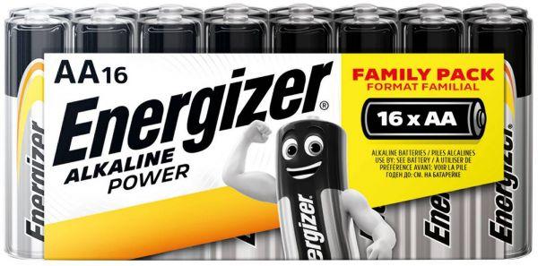 Energizer Alkaline Power AA 16er Shrink Mignon Batterie 1,5V LR06 E300173000