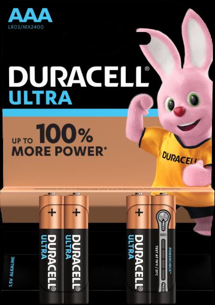 Duracell AAA Micro LR03 1,5V Ultra Power 4er Blister Alkaline MX2400
