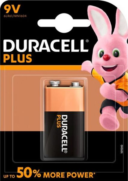 Duracell 9V Block MN1604 6LR61 Plus Power 1er Blister 6LP3146
