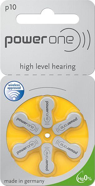 Varta Power One Gr. 10 Hörgerätebatterien 6er Blister PR70 Gelb 24610