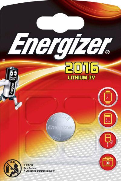 Energizer ECR2016 Lithium 3V Zelle 1er Blister CR2016 IEC C Knopfzelle