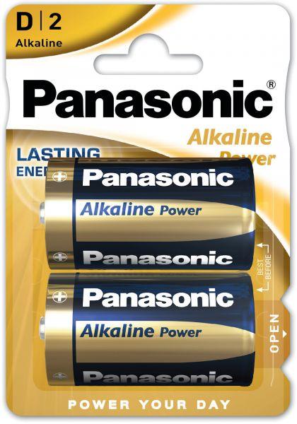 Panasonic Alkaline Power D-Batterien LR20 1,5 V AM1 MN 1300 Torcia 2er Blister LR20APB/2BP