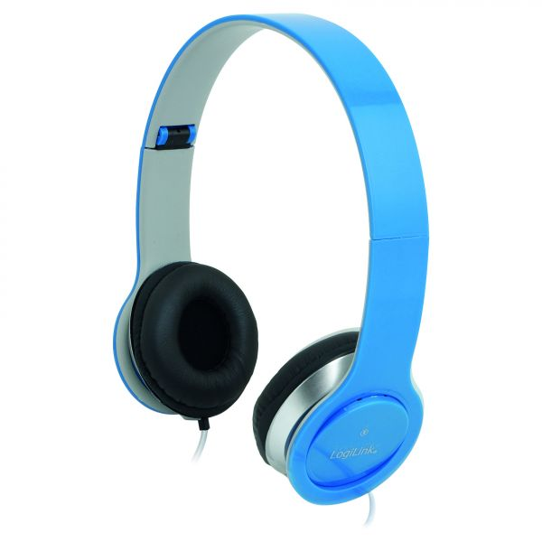 LogiLink Headset Stereo mit Mikrofon 3.5mm blau