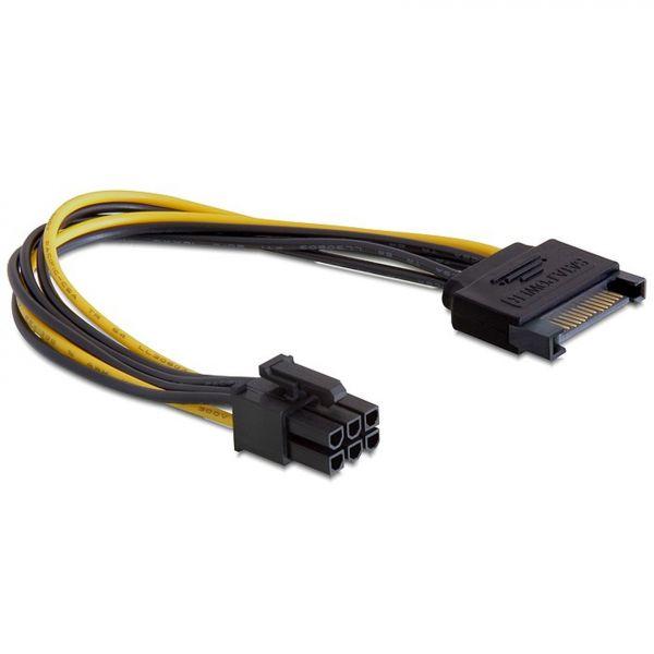 Delock 82924 Kabel Power SATA 15 Pin > 6 Pin PCI Express
