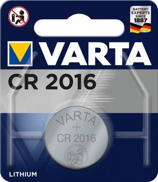 Varta CR2016 1er Blister 3V Batterie Lithium Knopfzelle 6016 VCR2016
