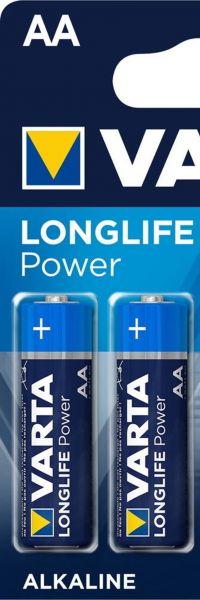 Varta 0,5x Longlife Power AA Mignon Alkaline Batterie 4er Blister 4906