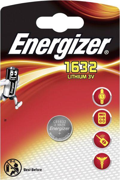 Energizer Lithium 3V Zelle 1er Blister CR1632 IEC C Knopfzelle ECR1632