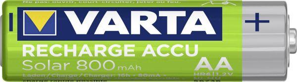 Varta Recharge Accu Solar HR6 wiederaufladbarer Akku AA Mignon 800 mAH NiMh Bulk 56736