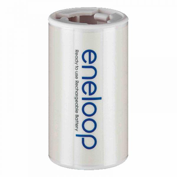 Panasonic Adapter Eneloop AA (R6) nach D (R20) für 1x AA - bulk BQ-BS1E