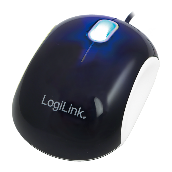 LogiLink Mini Mouse, Optical Mouse, black-white
