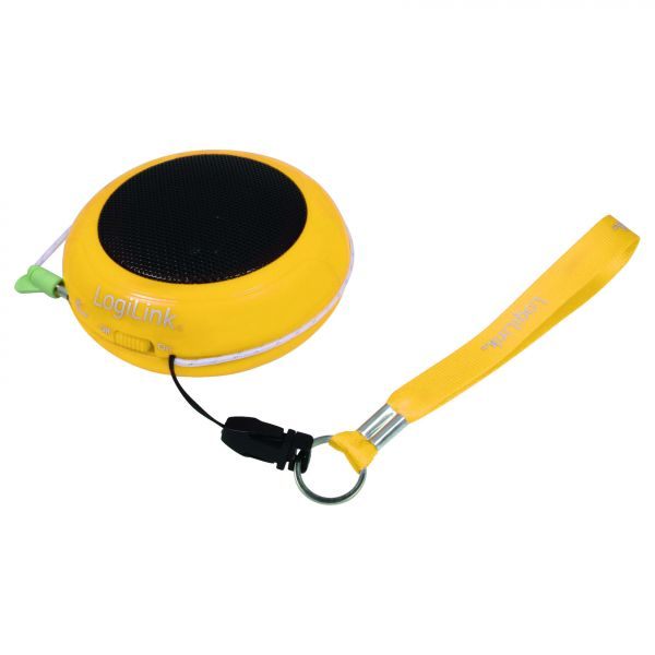 LogiLink Mini Hamburger Speaker yellow