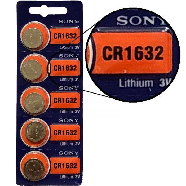 Sony 5er Blister 3V Batterie Lithium Knopfzelle CR1632 CR1632BEA