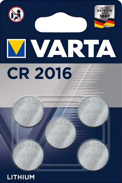 Varta CR2016 5er Blister 3V Batterie Lithium Knopfzelle 6016 VCR2016