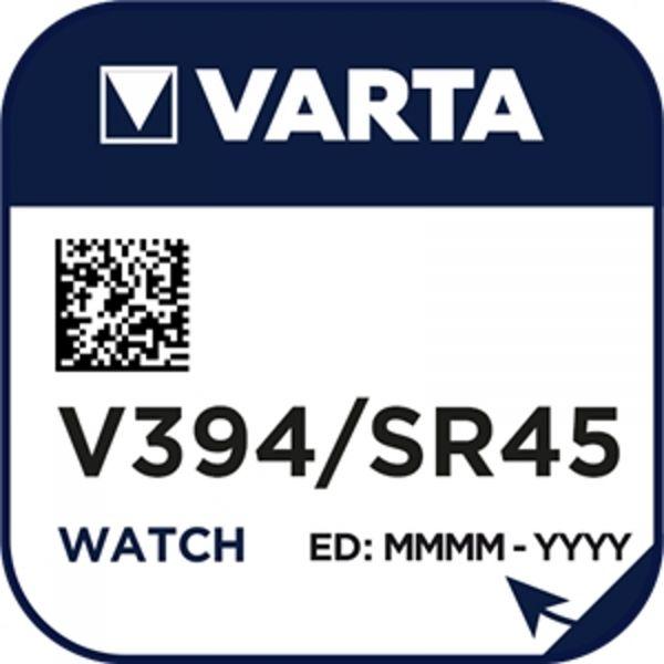 Varta Watch V 394 Uhrenzelle Knopfzelle SR 936 SW V394 67 mAh 1,55 V Silber-Oxid 1er Blister V 394