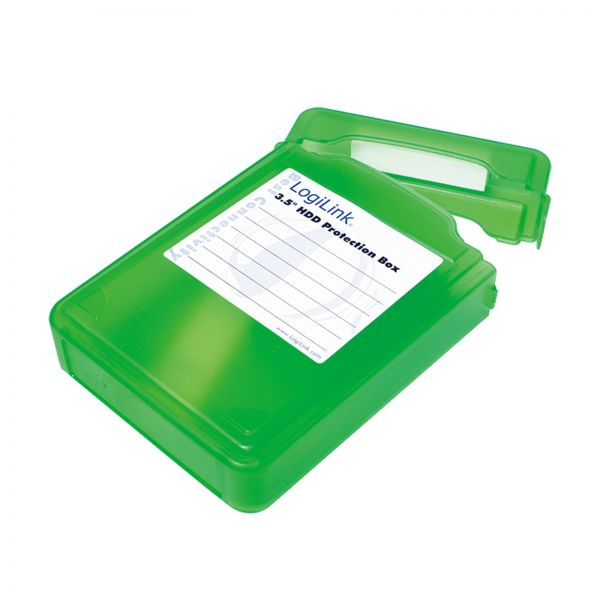 """LogiLink Festplatten Schutz-Box für 3,5"""" HDDs Grün"""