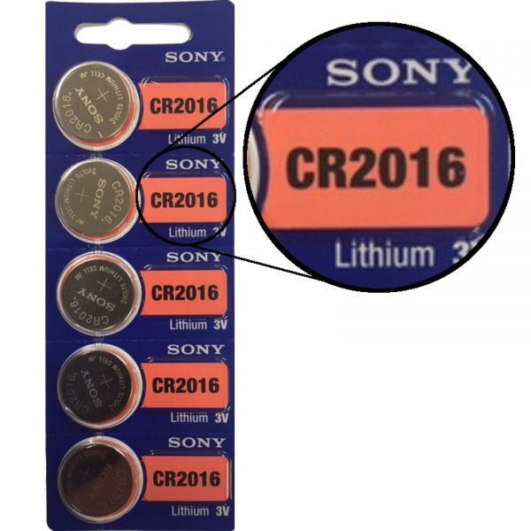 Sony CR2016 5er Blister 3V Batterie Lithium Knopfzelle E2226715