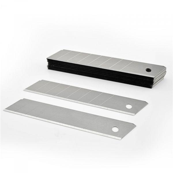EWANTO Ersatzklingen Abbrechklingen für Cuttermesser 18 mm Breite 10er Pack HA-27