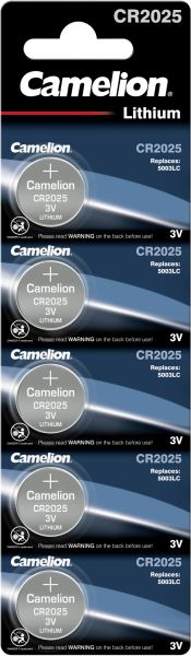 Camelion Lithium Knopfzelle CR2025 2025 3V 5er Blister CR2025-BP5