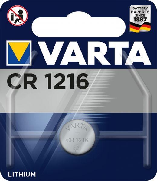 Varta CR1216 Lithium Knopfzelle 3V 1er Blister CR 1216 6216