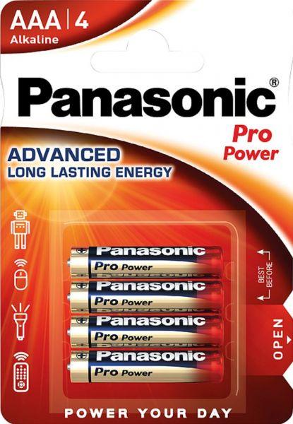 Panasonic Pro Power Micro AAA, LR03 Alkaline 4er Blister MN2400 LR03XEG/4B LR03PPG/4BP