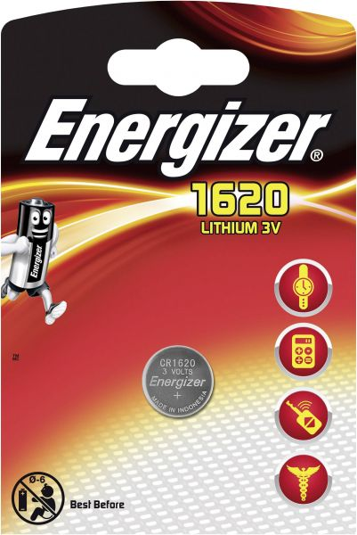 Energizer Lithium 3V Zelle 1er Blister CR1620 IEC C Knopfzelle ECR1620