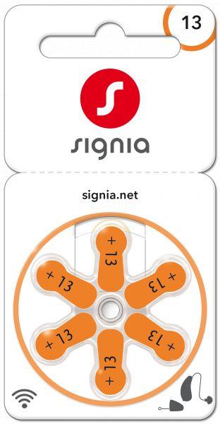 Signia Gr. 13 Hörgerätebatterien Orange 6er Blister PR48 24606 Sig13 p13mf