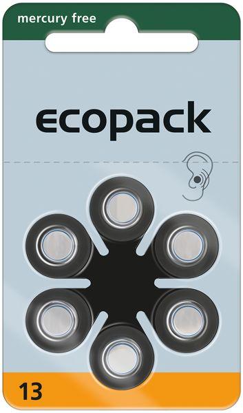 Varta ecopack Gr. 13 Hörgerätebatterien 6er Blister Orange 1,4V 24606 24606726406