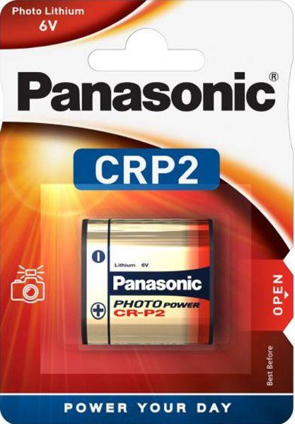 Panasonic 1er-Blister CRP2 Photo Lithium Batterie 6V Fotobatterie CR-P2L/1BP