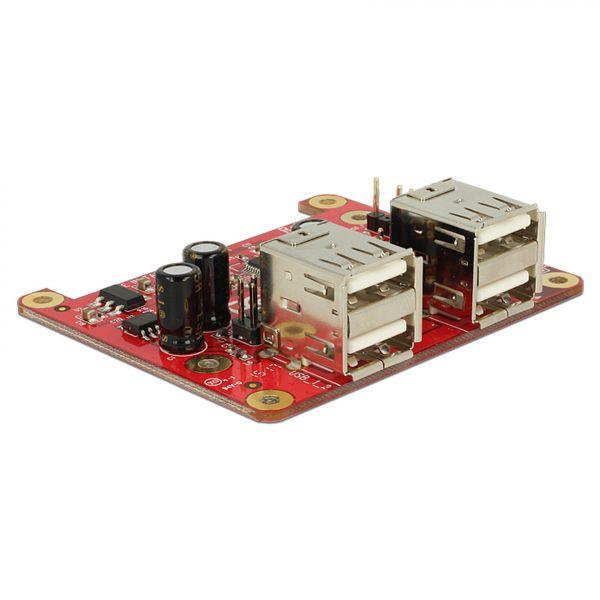 Delock Hub Raspberry Pi USB Micro-B Buchse / USB Pin Header > 4 x USB Typ A Buchse 62650