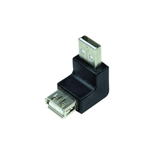 LogiLink USB Adapter, USB 2.0 AM / AF, 90 degree