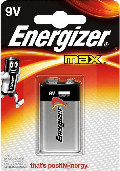 Energizer Max 9V 1er Blister E-Block Transistor Batterie E300115901