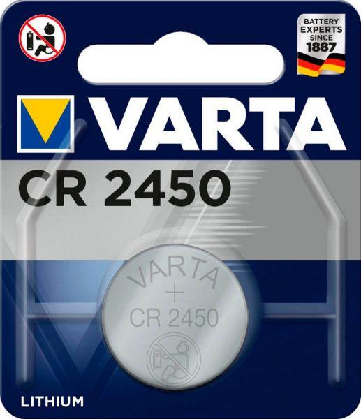 Varta CR2450 1er Blister 3V Batterie 6450 Lithium Knopfzelle 560 mAh VCR2450