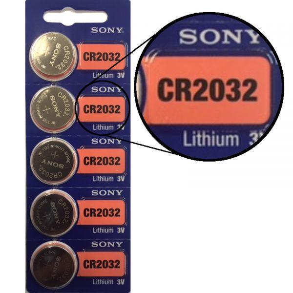 Sony CR2032 5er Blister 3V Lithium Batterie Knopfzelle 220 mAh E2358808