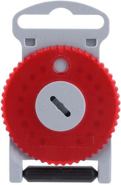 EWANTO 16er Box HF-4 Cerumenfilter WaxGuards wie AS Audio Service mit einem Filter-Wechselstift, Wachsschutz, WaxStop, Ohrenschmalzfilter Cerumen Filter für Hörgeräte (HF4 - Rot Rechte Seite) HA-04