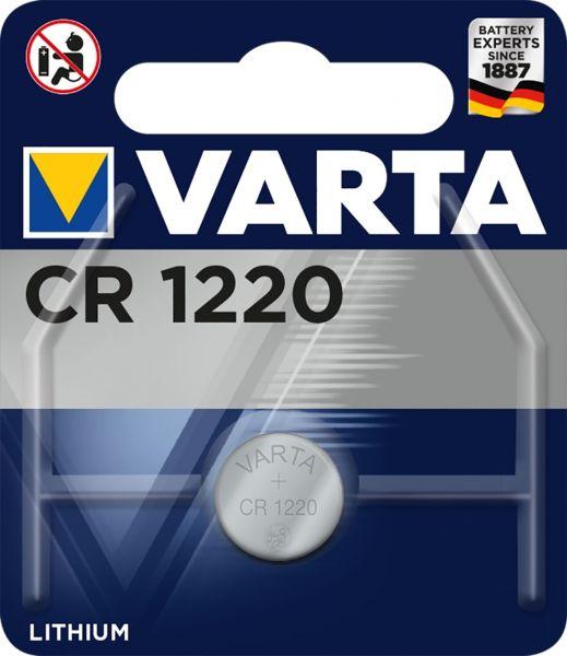 Varta CR1220 Lithium Knopfzelle 3V 1er Blister CR 1220 VCR1220